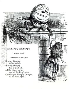 Humpty-Dumpty,-Illustration-For-The-Nursery-Rhyme-By-Lewis-Carroll-1832-98